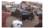 Moment Governor Sanwo Olu's Convoy Was Booed, Stoned By Angry Lagos Mob (Video below)