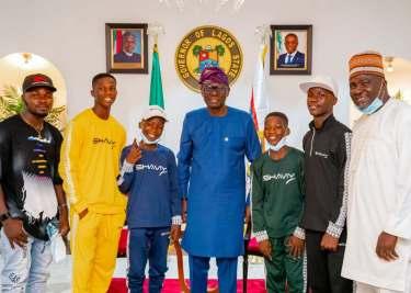Gov. Sanwo-Olu hosts Ikorodu Bois, says 'We are proud of you'