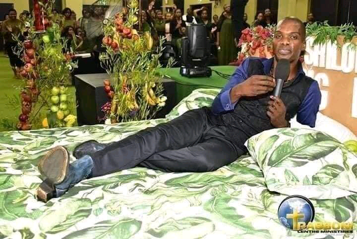 Self proclaimed Prophet of God shows off how paradise looks like to his congregation (Photos)