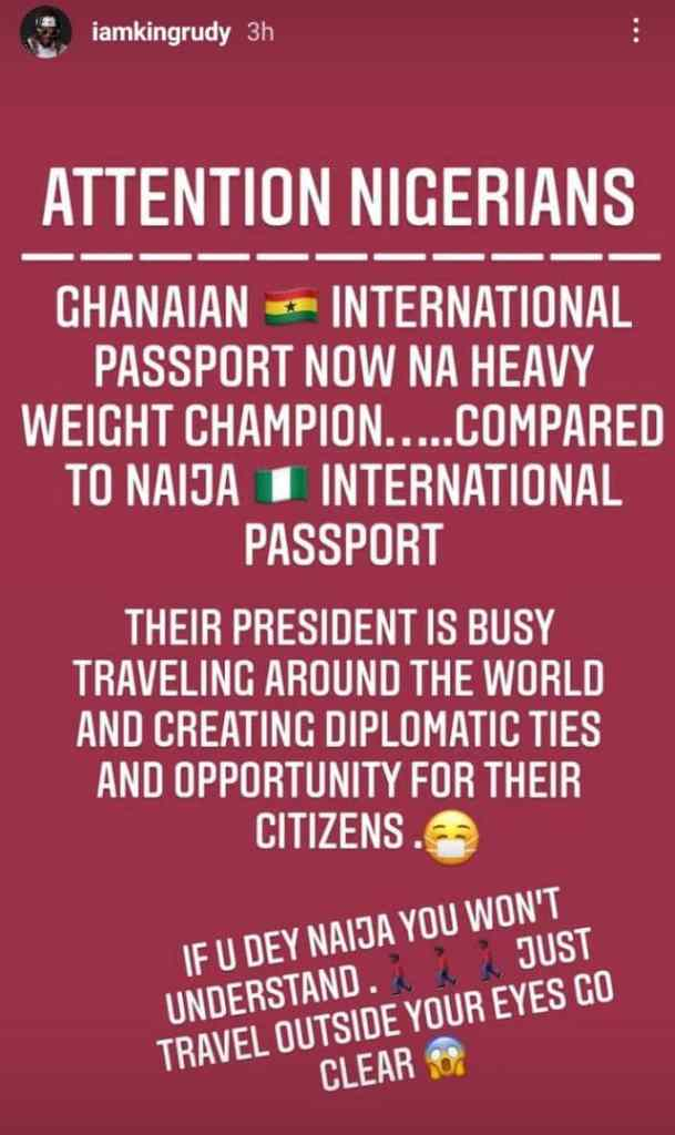 Rudeboy Cries After Realizing This About Ghanaian International Passport
