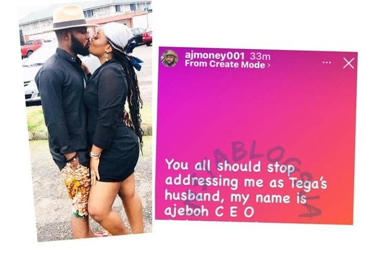 Tega's Husband Warns Nigerians To Stop Addressing Him As Tega's Husband After Chasing Clout With It