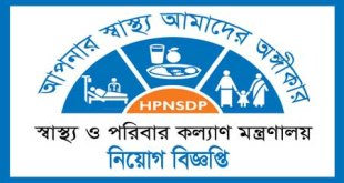 DGHS gov bd job circular Application Exam Date