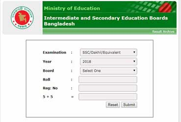 SSC result 2019 Jessore board Marksheet Online and SMS System