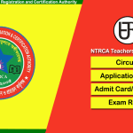NTRCA Exam Circular