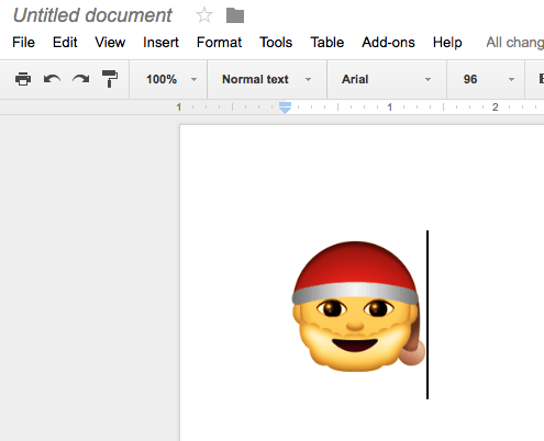 Inserting special characters and emoji into Google Docs