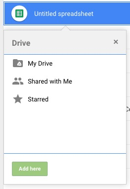 Add here doesn't make a copy, but puts the file in both places in Google Drive.