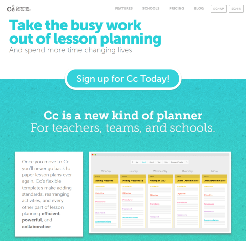 Free Lesson Planner And Planbook For Teachers Commoncurriculum