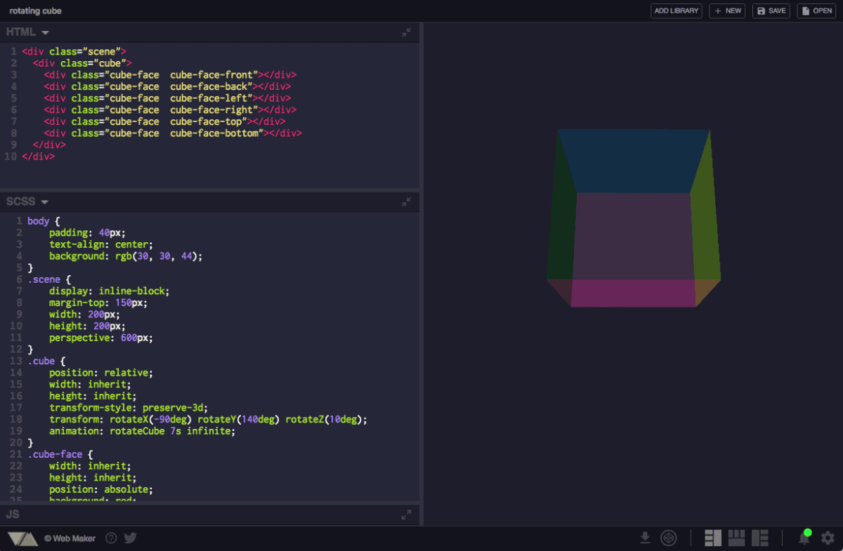 Web Maker is a great playground for web developers