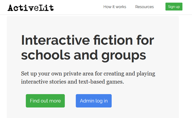 Create interactive fiction for your classroom with ActiveLit and Quest
