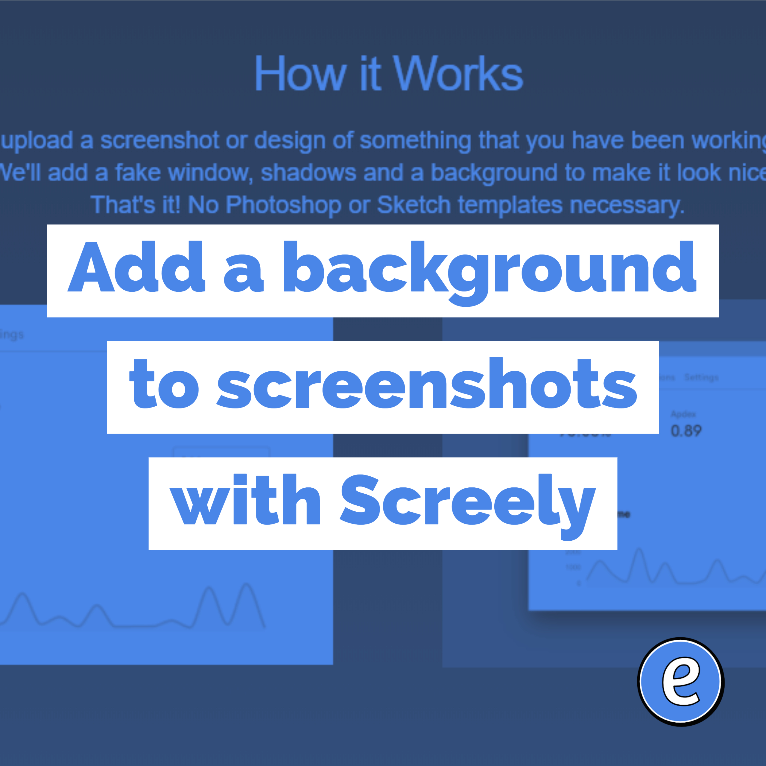 Add a background to screenshots with Screely