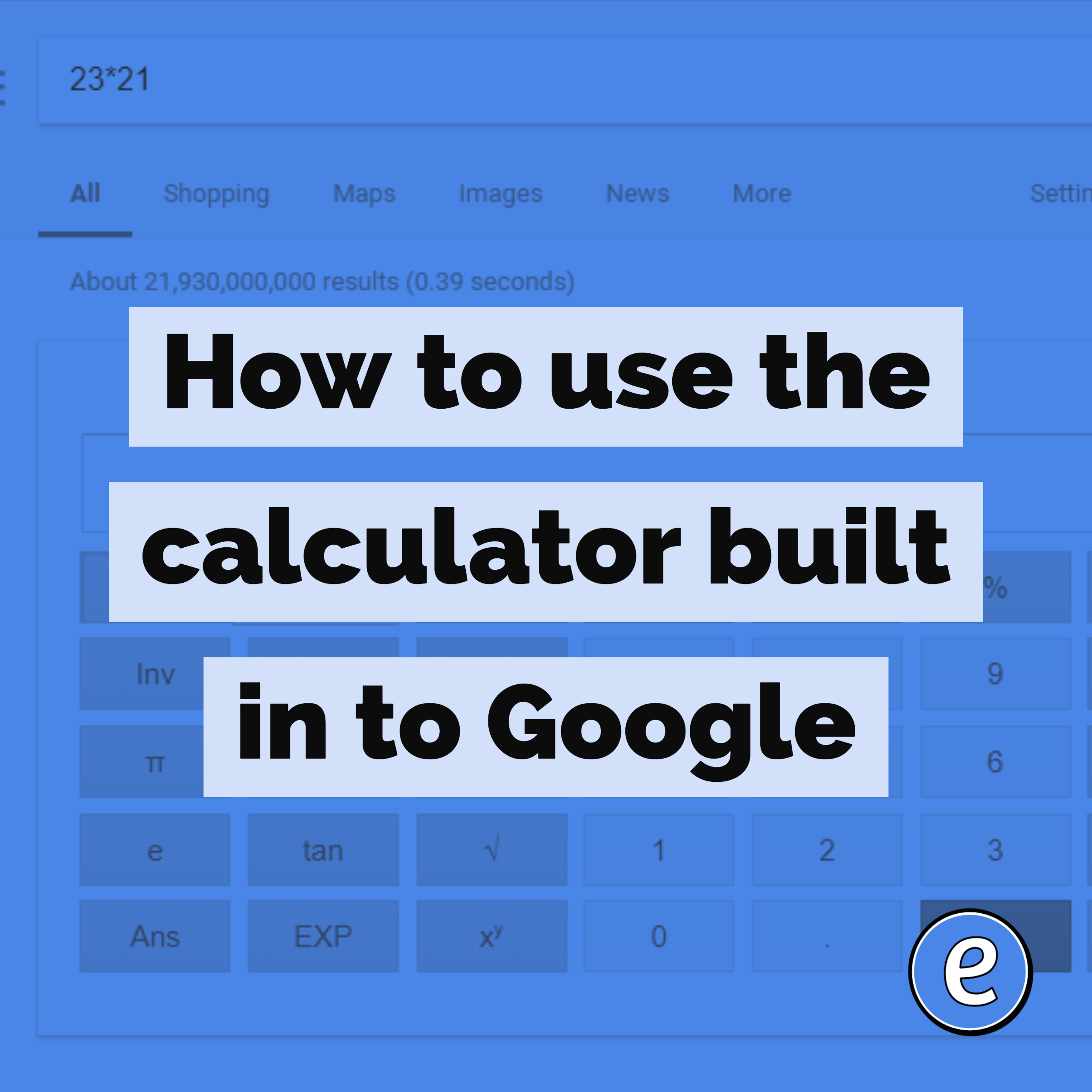 How to use the calculator, graphing calculator, and geometry calculator built in to Google