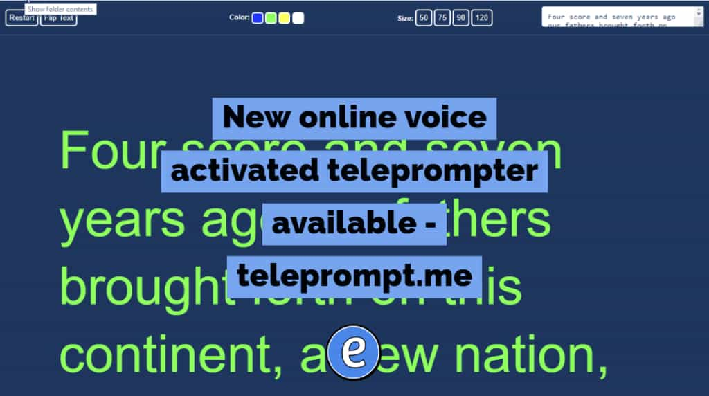 New online voice activated teleprompter available - teleprompt.me