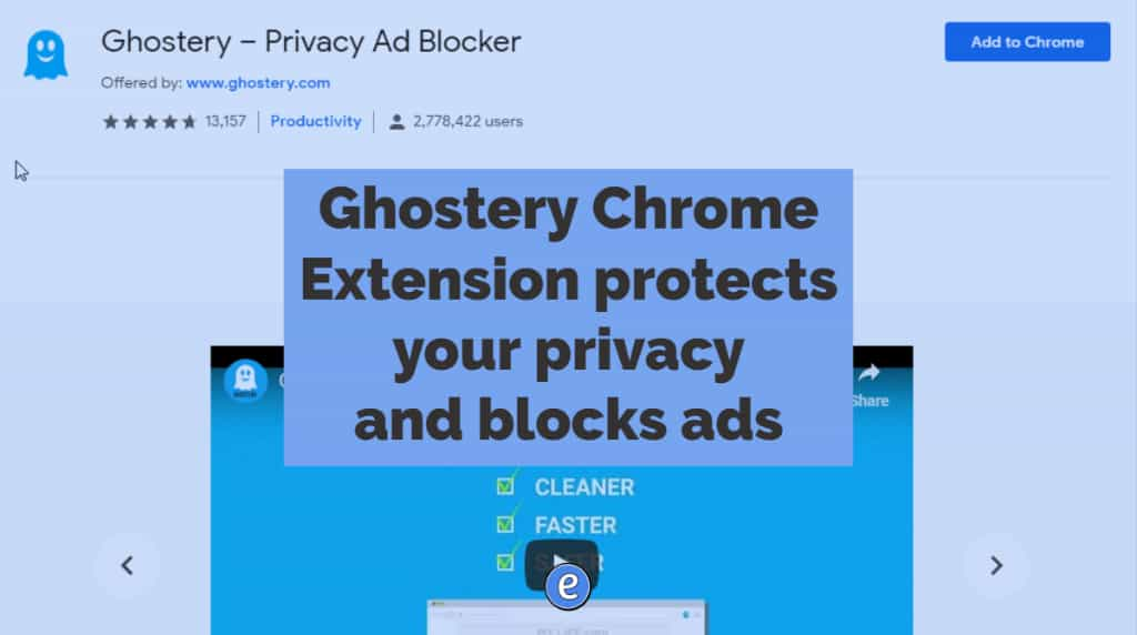 Ghostery Chrome Extension protects your privacy and blocks ads