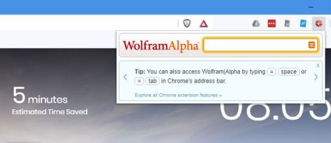 Query Wolfram Alpha from the Chrome toolbar with this extension