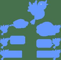 Social-Media-Blue-Bird-Icons