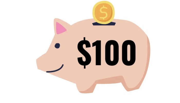 How to save $100