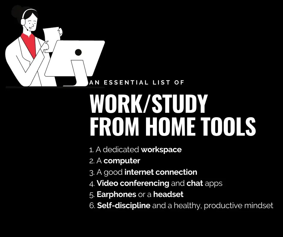 Tips for studying/working from home