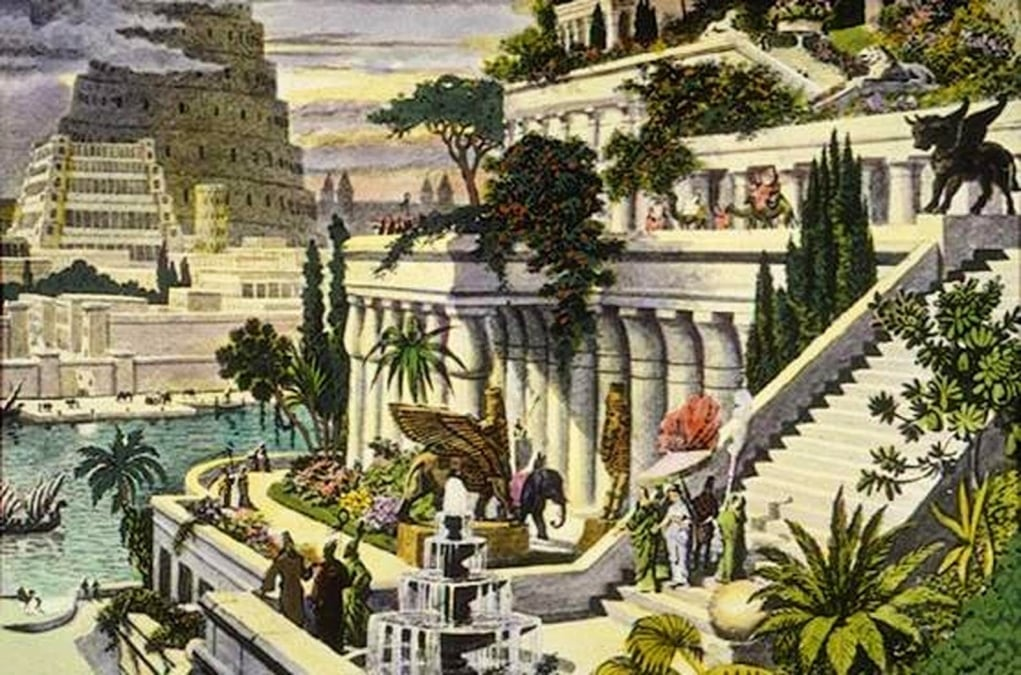 2. Hanging Gardens of Babylon (605 BC - Iraq, Mesopotamia)