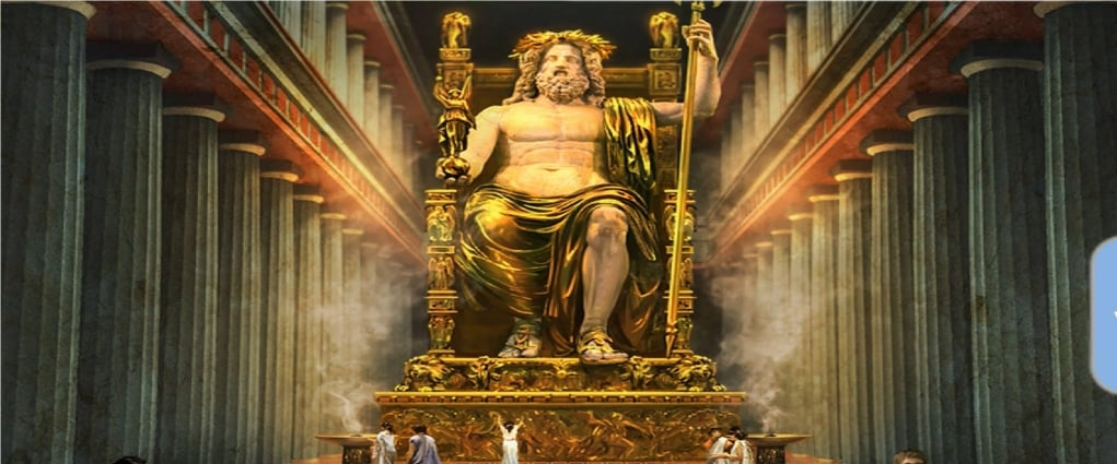 3. Statue of Zeus (BC 456 - Olympia, Greece)