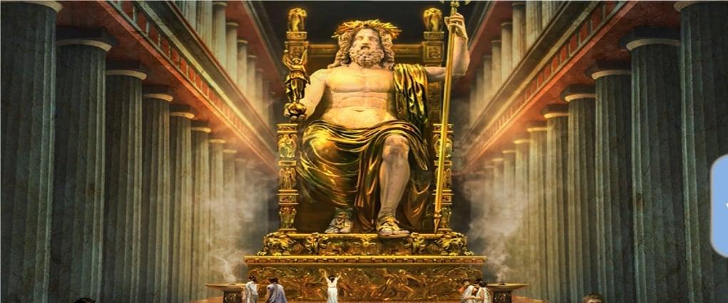 3. Statue of Zeus (BC 456 - Olympia, Greece)