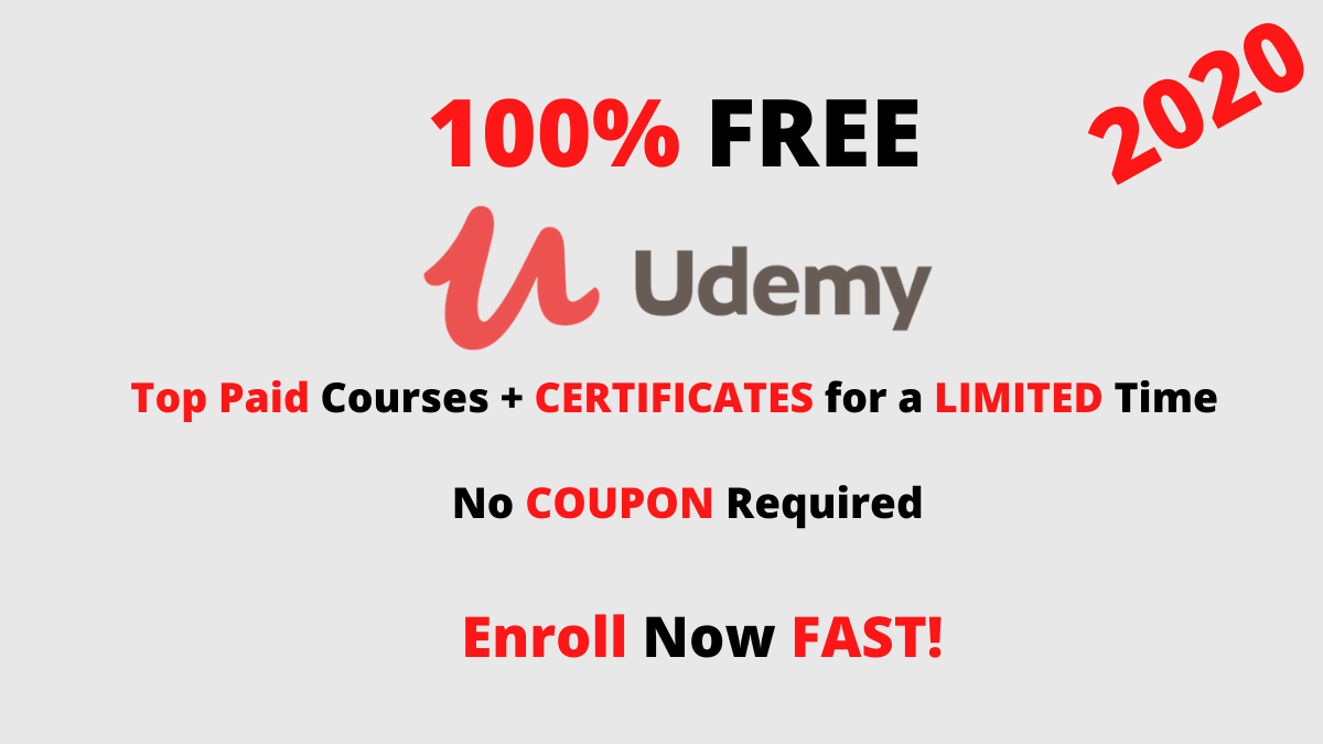 free udemy courses 2020