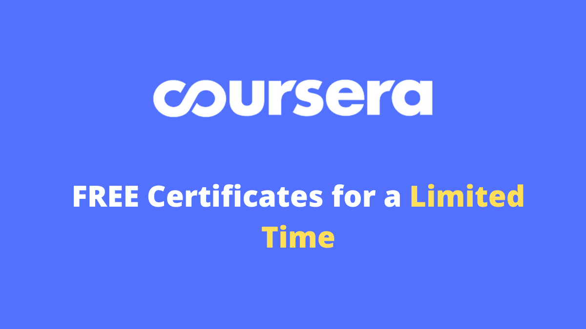 Coursera free courses July 2020