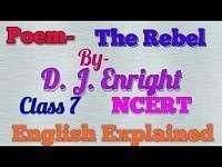 Class-7 Poem-2 The Rebel NCERT Solution  