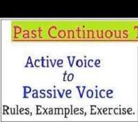 Active and Passive Voice Rules and Exercises (Past Continuous Tense) |  EDUMANTRA
