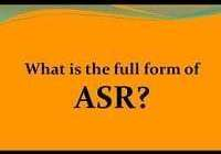 ASR Full-Form   What is Automated Speech Recognition (ASR)