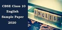 English sample / Model paper for class 10 Set 16- 2020