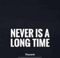 Never is a long time meaning in English