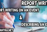 Examples of Report Writing on an Event & Describing an Event