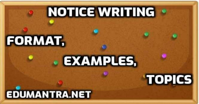 Notice Writing for Class – 6 Format, Examples & Topics