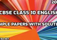 CBSE Class 10 English 2020-21 Sample Papers with solutions