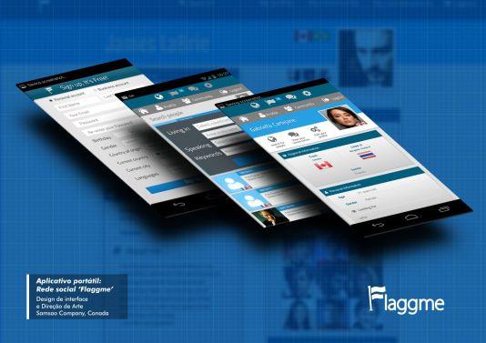 Flaggme Aplicativo Interface