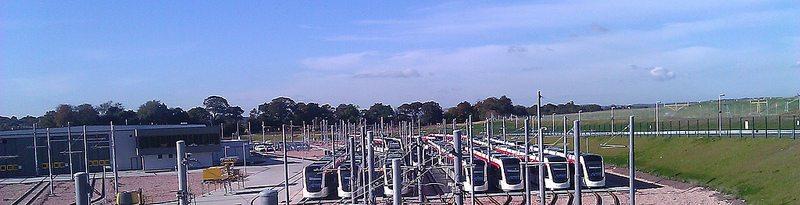 edinburgh tram depot