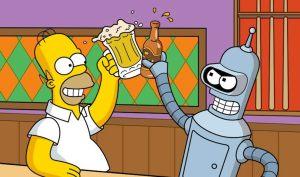 simpsons bender drunk