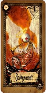 tarot card left at murder scene