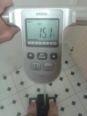 body fat reading