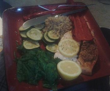 Smoked salmon & spinach