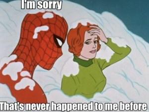 spiderman cum