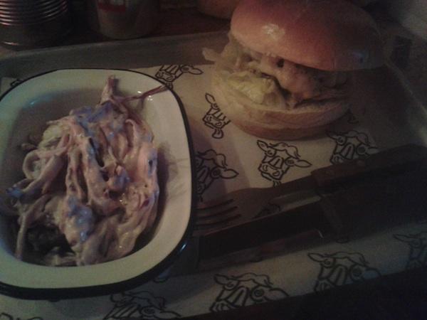 the boozy cow burger