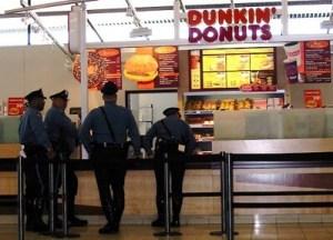 dunkin donuts cops