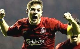 Steven Gerrard in Champions League Final 2005