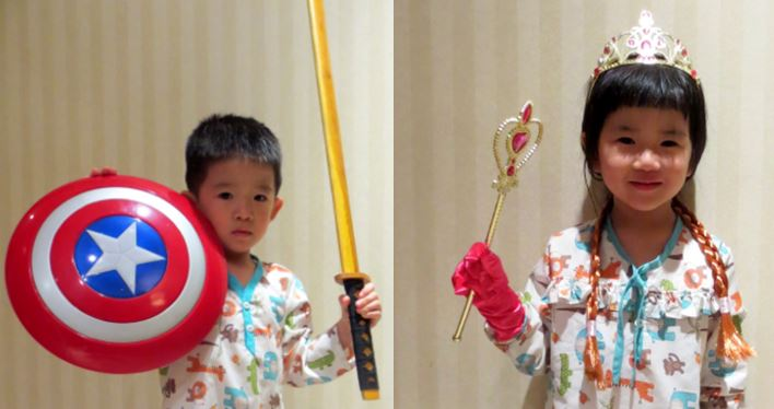 All the way to Beijing, only to be Captain America and Princess Anna