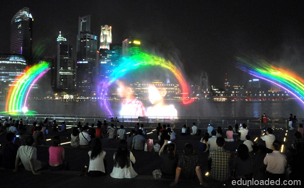 laser show at MBS