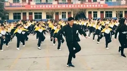 Chinese primary school principal taught ''shuffle dance'' to his school children