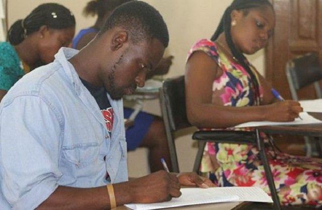 Teachers sitting for an Exams