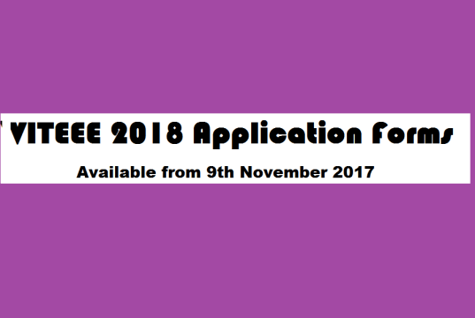 viteee application form 2018