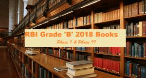 rbi grade b 2018 books